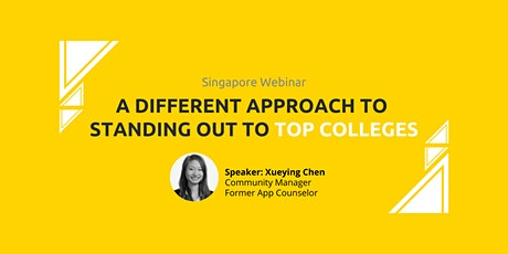 09.22.2021 Webinar: A Different Approach to Getting Into a Top College tickets