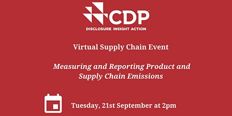 CDP Ireland Network – Supply Chain Event addressing emissions in Purchased tickets