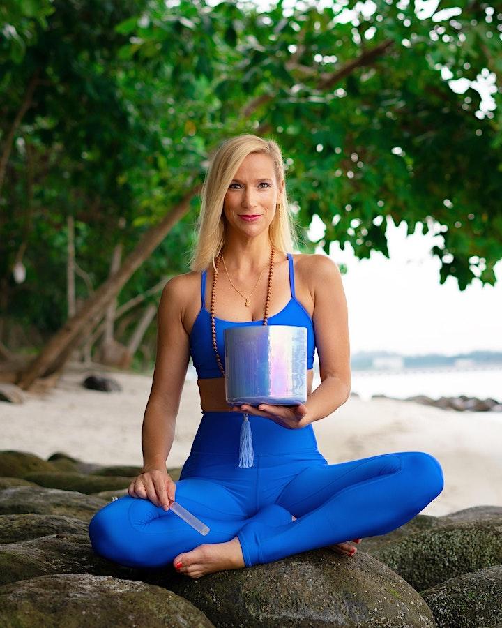 Yin yoga and Sound healing image