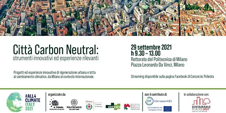 Città Carbon Neutral: strumenti innovativi ed esperienze rilevanti biglietti