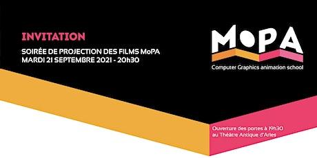 SOIRÉE DE PROJECTION DES FILMS MOPA 2020-2021 billets