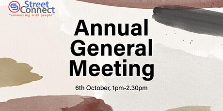 Street Connect Annual General Meeting 2021 tickets