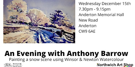 Demonstration of a winter scene in watercolour with Anthony Barrow tickets
