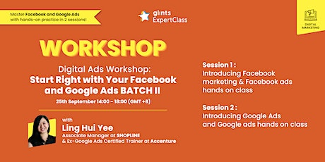 Digital Ads Workshop : Start Right with Your Facebook and Google Ads entradas