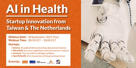 AI in Health: Startup Innovation from Taiwan & The Netherlands billets