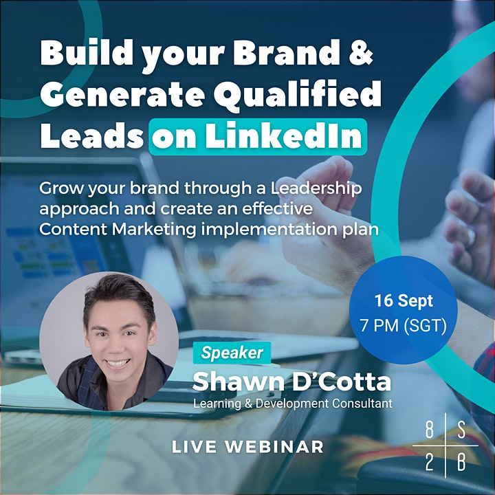 Live Webinar: How to build your Personal Brand on LinkedIn image