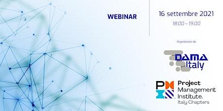 Webinar: DAMA Italy e PMI Italy Chapters biglietti