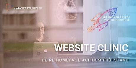 Website Clinic: Deine Homepage auf dem Prüfstand Tickets