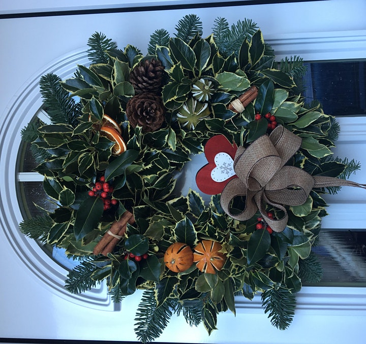Christmas Holly Wreath Workshop at The Oulton Institute image