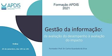 Gestão da informação: da avaliação do desempenho à avaliação do impacto ingressos