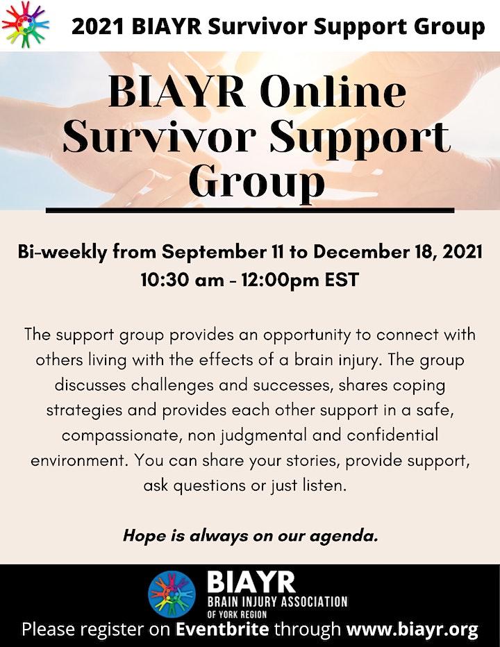 BIAYR Online Survivor Support Group Fall 2021 image