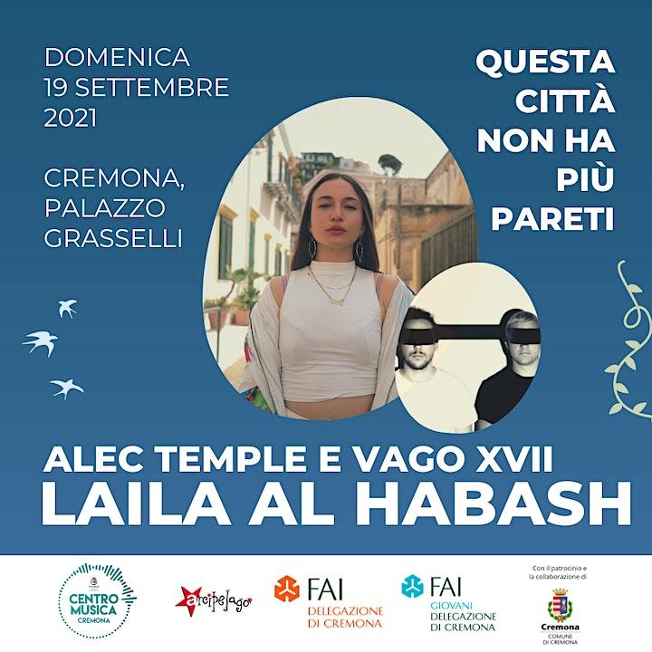 Immagine Alec Temple e Vago XVII + LAILA AL HABASH  • Cremona, domenica 19 settembre