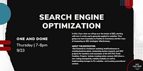 Search Engine Optimization with Mak Schenck tickets