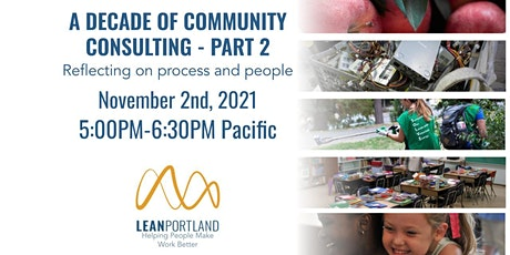 Lean Portland Happy Hour: Community Consulting Process and Partners tickets