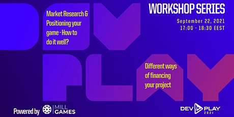 Workshop Dev.Play - Market Research & Positioning your game tickets