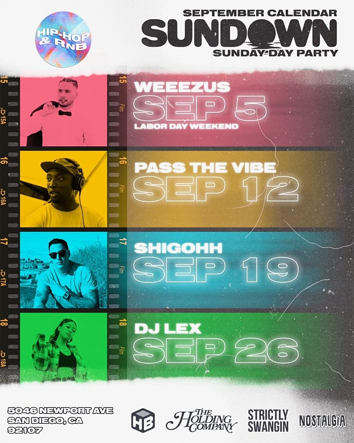 SUNDOWN Day Party & Beach Club FT. DJ LEX image