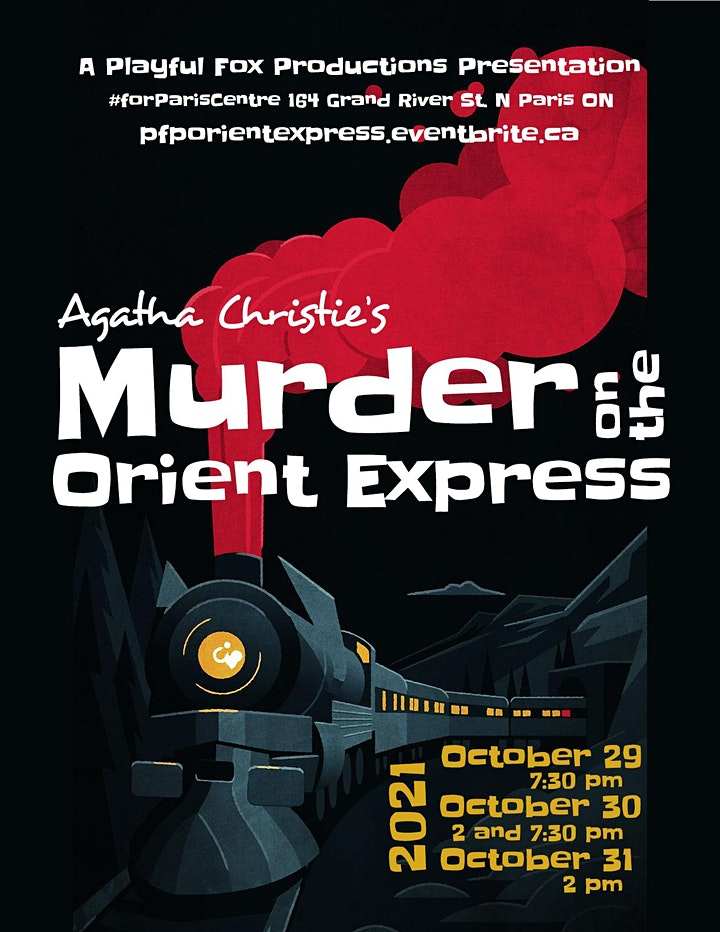 """PFP presents: """"Agatha Christie's Murder on the Orient Express"""" image"""
