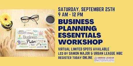 Business Planning Essentials Virtual Workshop tickets