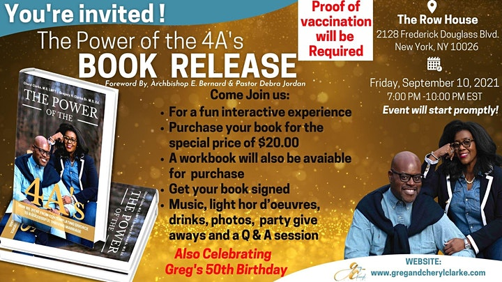 Greg and Cheryl Clarke Book Release/Signing & Greg's Birthday Celebration image