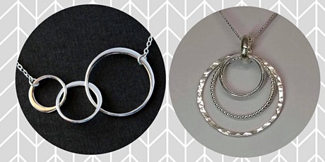 Make your own silver circle necklace tickets