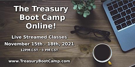 The Online Treasury Boot Camp - November 2021 boletos