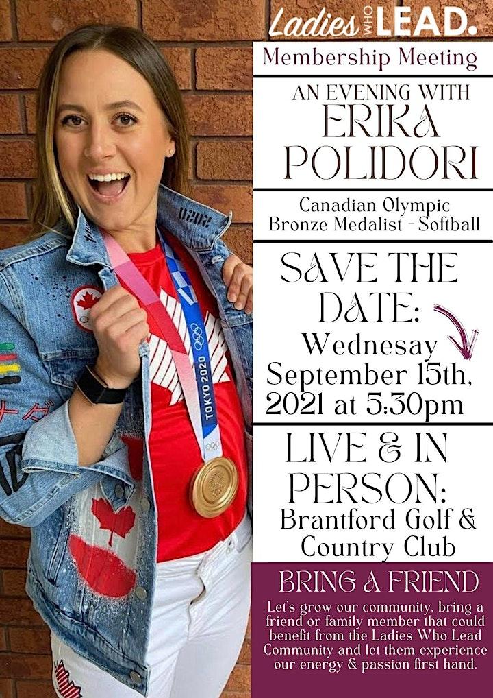 An Evening With, Erika Polidori   Olympic Bronze Medalist - Softball image