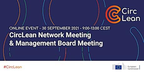 First CircLean Network & Management Board meeting tickets