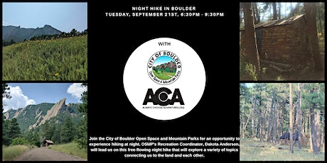 Night Hike in Boulder with City of Boulder Open Space & Mountain Parks tickets