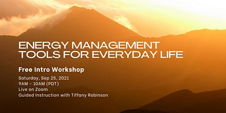 Energy Management Tools for Everyday Life - FREE (online) tickets