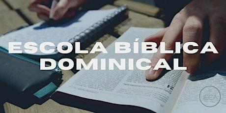 ESCOLA BÍBLICA DOMINICAL - 31/10 ÀS 9:30H DA MANHÃ ingressos