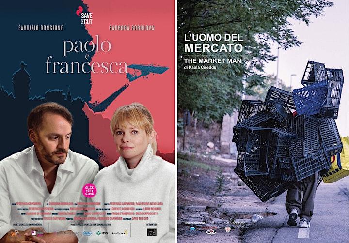 """Immagine PROIEZIONE CORTI FINALISTI """"PAOLO E FRANCESCA"""" E """"L'UOMO DEL MERCATO"""""""