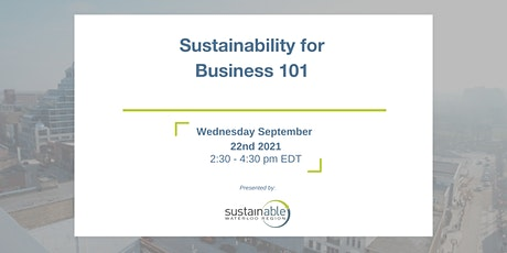 Sustainability for Business 101 tickets