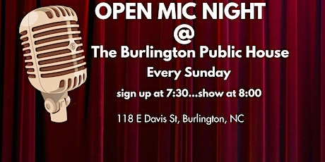 open mic comedy at The Burlington Public House tickets