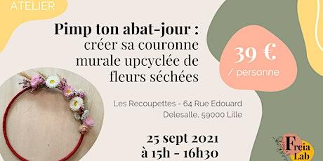 Pimp ton abat-jour : Création d'une couronne murale de fleurs séchées billets