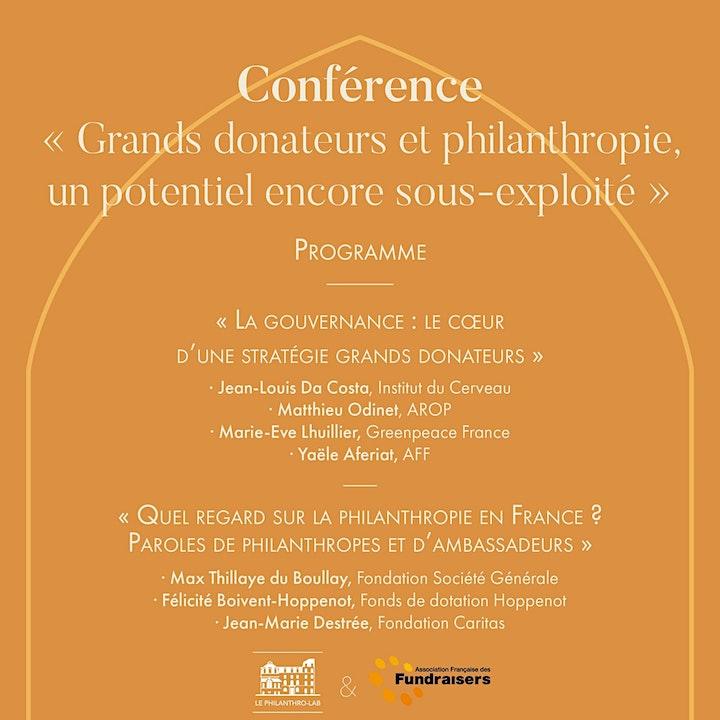 """Image pour Conférence """"Grands donateurs et philanthropie, un potentiel sous-exploité"""""""