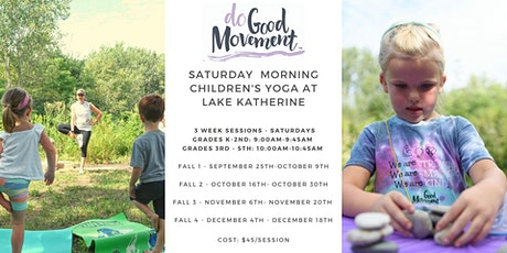 The Do Good Movement Children's Yoga at the Lake - Saturday Mornings tickets