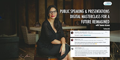Digital Public Speaking and Presentations Masterclass with Saana Azzam tickets