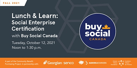 Social Enterprise Certification Info Session with Buy Social Canada tickets