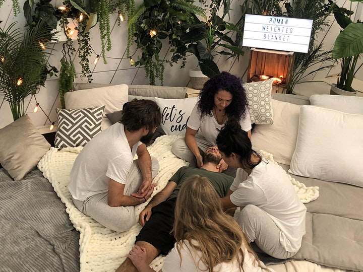 The Human Weighted Blanket Video Launch &  Platonic Touch Therapy Offering image