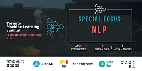 Toronto Machine Learning Summit on NLP tickets