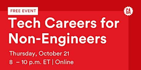 GA Webinar   Tech Careers for Non-Engineers tickets
