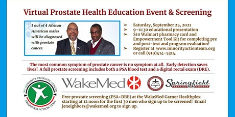 Virtual Prostate Health Education Event tickets