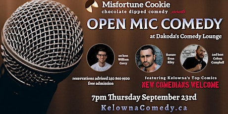Misfortune Cookie presents Open Mic Comedy tickets