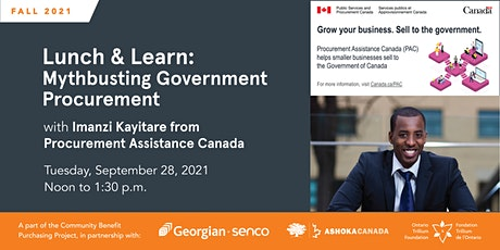 Mythbusting Government Procurement with Procurement Assistance Canada tickets