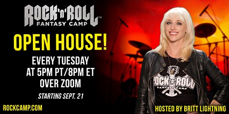 Weekly Rock 'n' Roll Fantasy Camp Open House tickets