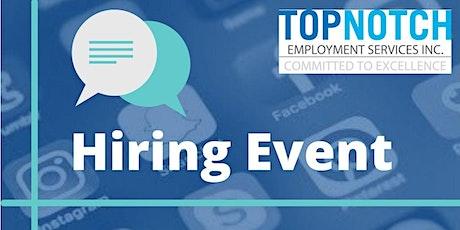 Virtual Hiring Event - Social Media Jobs in  Ottawa, ON tickets