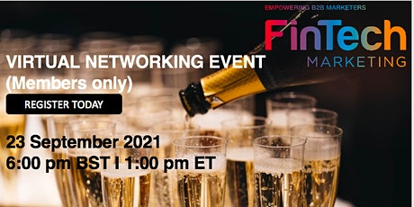 FinTech B2B Marketing Virtual Networking Event (Learn. Connect. Grow) tickets