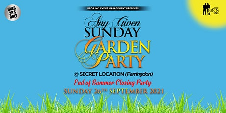 AGS Garden Party - Sunday 26th September 2021 [Covid Secure] tickets
