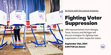 At Home With The League: Fighting Voter Suppression tickets