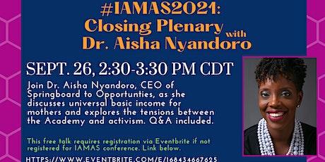 #IAMAS2021 Conference Closing Ceremony tickets